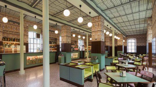 Bar Luce designed by Wes Anderson, Fondazione Prada Milano, 2015
