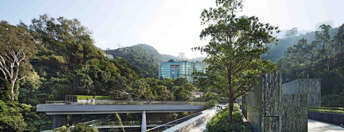 Joseph Lau and Josephine Lau Roof Garden(right), Yasumoto Bridge and Fruit Bats Bridge (left), 2012