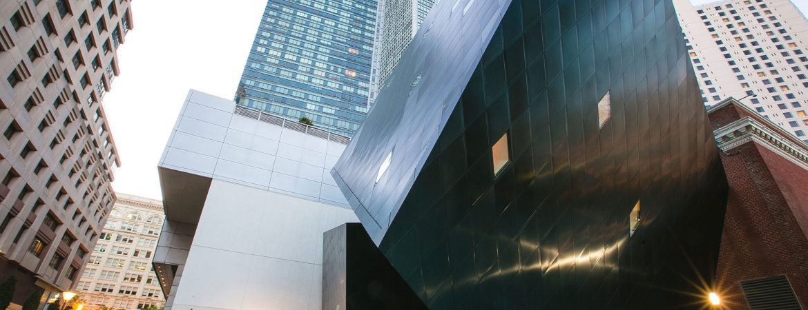 View of The Contemporary Jewish Museum, San Francisco, from Yerba Buena Lane.